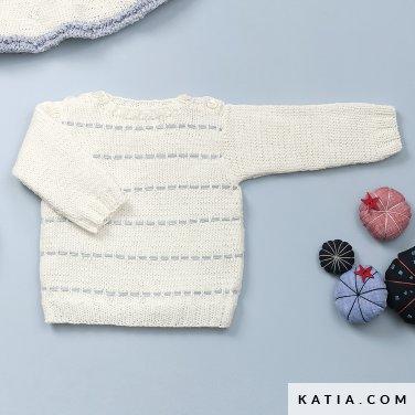 patron-tejer-punto-ganchillo-bebe-jersey-primavera-verano-katia-6120-23-p