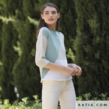 patron-tejer-punto-ganchillo-mujer-jersey-primavera-verano-katia-6123-14-p