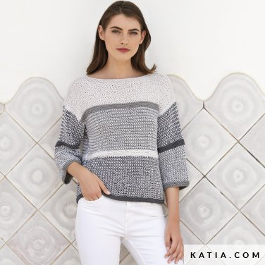 patron-tejer-punto-ganchillo-mujer-jersey-primavera-verano-katia-6123-33-p