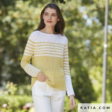 patron-tejer-punto-ganchillo-mujer-jersey-primavera-verano-katia-6123-9-p