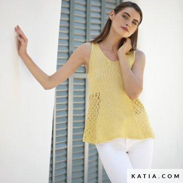 patron-tejer-punto-ganchillo-mujer-top-primavera-verano-katia-6123-11-p