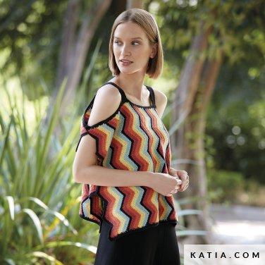 patron-tejer-punto-ganchillo-mujer-top-primavera-verano-katia-6123-18-p