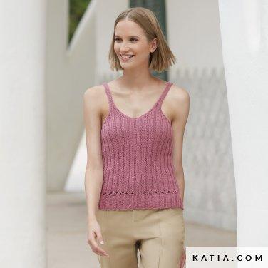 patron-tejer-punto-ganchillo-mujer-top-primavera-verano-katia-6123-30-p